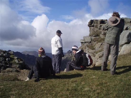 Arran Wild Walks: On the summit of Goatfell