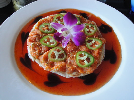 Pacific Fusion: Tuna Pizza  - DELICIOUS!