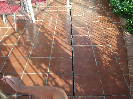 Velazquez : One of the patio cracks