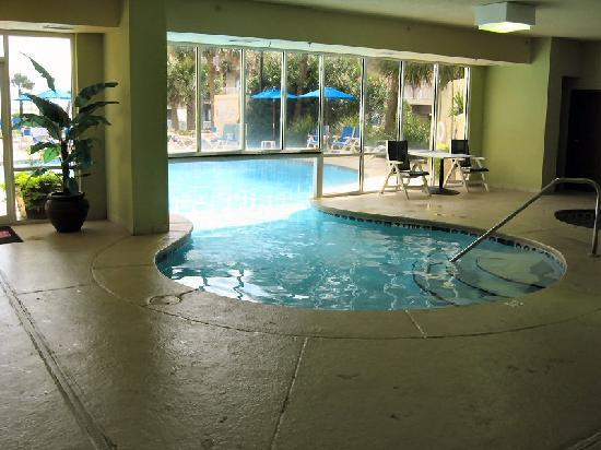 Indoor outdoor pool picture of hilton garden inn for Indoor garden pool