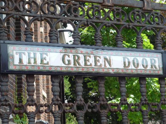 Green Door Bed and Breakfast: The Green Door Sign
