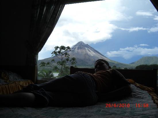 El Castillo, Kosta Rika: Volcan vu de la chambre