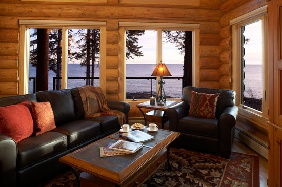 Living Room views at Temperance Landing on Lake Superior