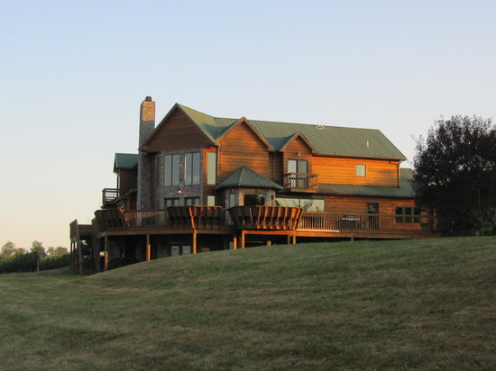 Owenton, KY: Rear View of Lodge at Dusk