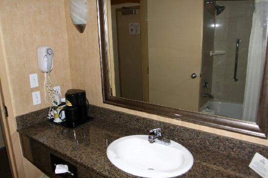 Coffee Maker In Bathroom Picture Of Holiday Inn Express Hotel - Bathroom maker