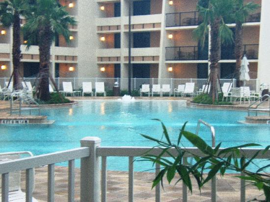 view of the pool from my room picture of holiday inn. Black Bedroom Furniture Sets. Home Design Ideas