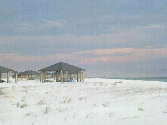 Pensacola Beach FL No Thats NOT Snow