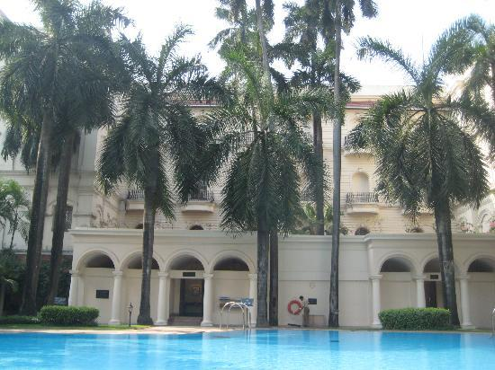 The Oberoi Grand: inside pool garden