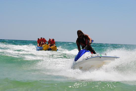 Banana Boat Rides with Aquatic Adventures Panama City Beach Fl