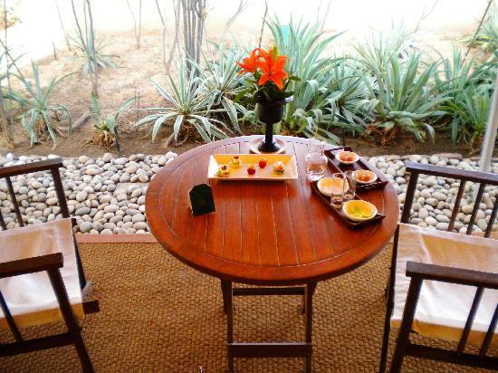 The Oberoi Rajvilas: terraza