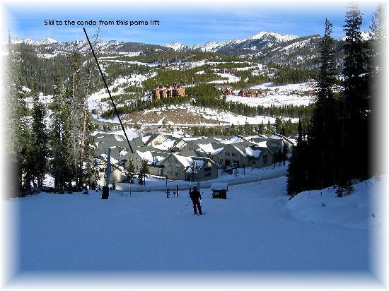 Big Horn Condominiums at Big Sky: Ski in Ski out Bear Back Poma Lift