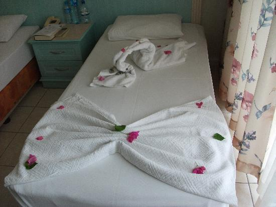 Efendi Hotel: beds made up by maid