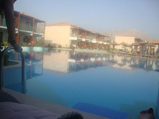 Holiday Village Rhodes: our view from our swim-up room