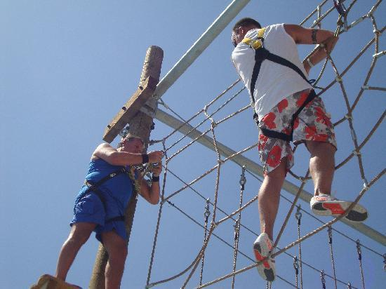 Holiday Village Rhodes: High Ropes the guys did it and loved it