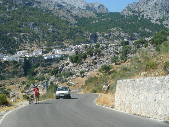 Andalucian Cycling Experience Day Trips: The climb into Grazelema, farily steep but doesn't last long and well worth it when you get to t