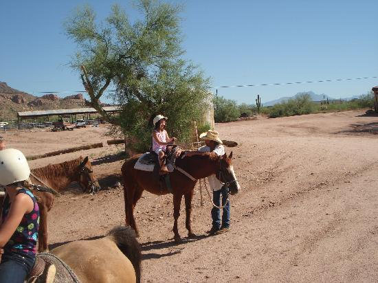 "Apache Junction, AZ: My youngest daughter rode ""Lace"""