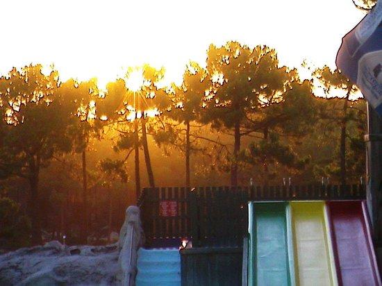 Lacanau-Ocean, France: coucher du soleil vu de la terrasse du bar