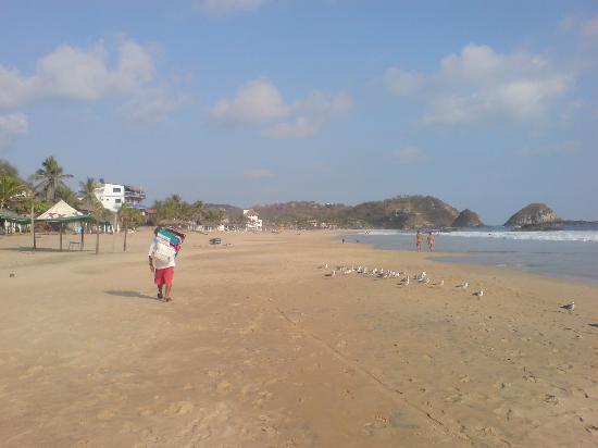 Puerto Angel, Mexico: la spiaggia (una metà...)
