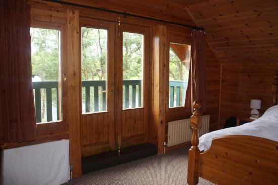 Lusty Beg Island: Master beroom & balcony