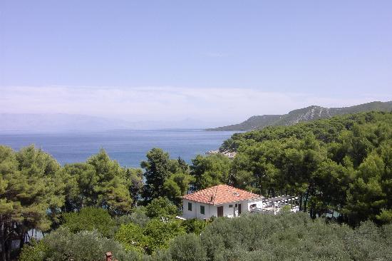 Jelsa, Croatie : La vista dal nostro balcone