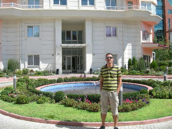 First Choice Apartments: Me at the entrance of the building