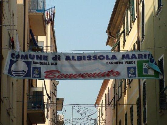 Albissola Marina Welcome Banner