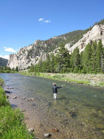 Firehole Ranch : My Husband on the Gallatin River