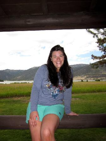 Firehole Ranch : Sitting on my Cabin Porch
