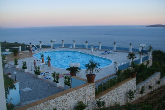 Villa Antonio: Ebenfalls eine wunderschöne Aussicht beim Abendessen