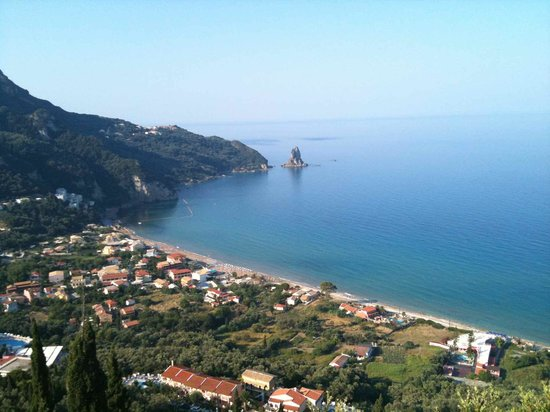 Dina Apartments: Agios Gordios from the top