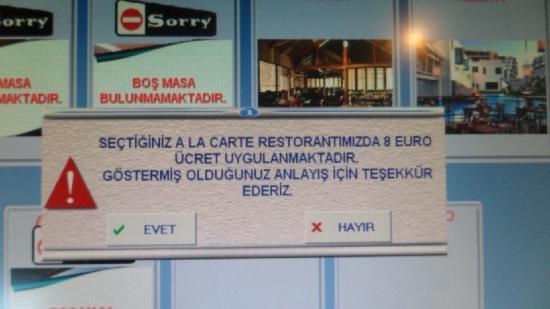 Susesi Luxury Resort : le vol des repas est passer de 10 a 8 euros apres le 15 aout