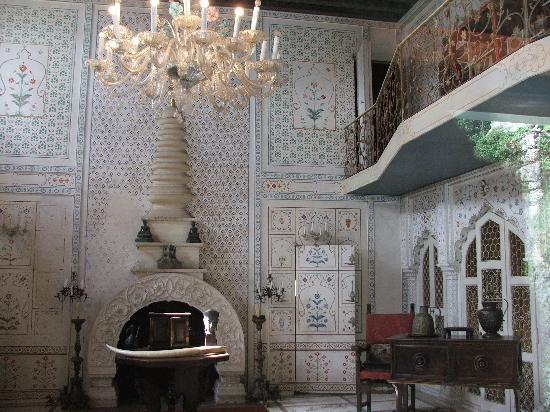 Morcote, Switzerland: inside of palace in Indian style in Parco Scherrer