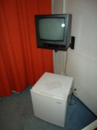 هوتل فلورا: La tele al estilo Vintage.