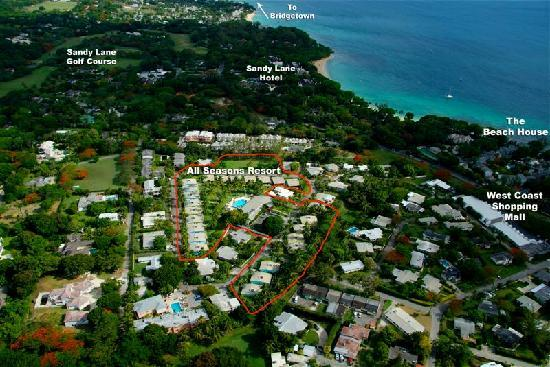 All Seasons Resort Europa: Aerial image of location -All Seasons Europa