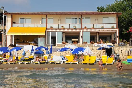 Sunprime Dogan Side Beach: Hotel vom Meer aus