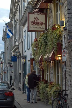 Le Patriarche : Restaurant street