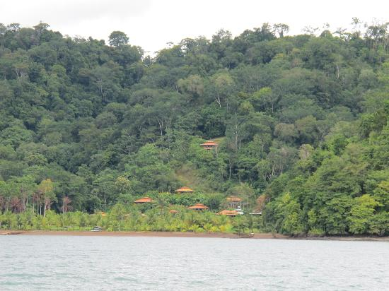 Villas Corcovado: View of hotel taken from the boat