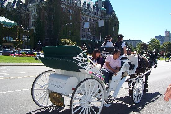 Horse drawn carrige tours almost outside the embassy Inn