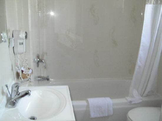 Napa Discovery Inn: シャワーだけならOKなお風呂場
