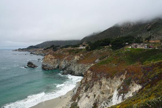Hampton Inn Santa Cruz: Big Sur inthe afternoom fog