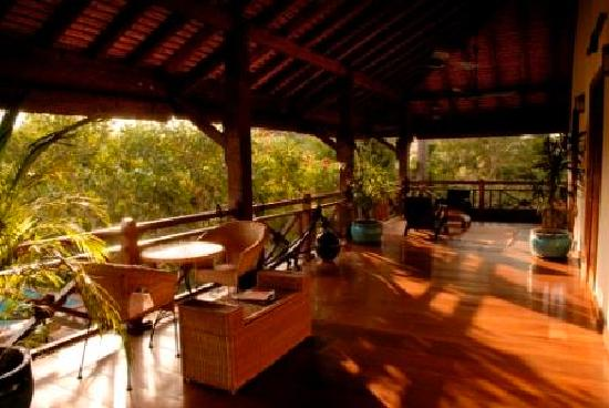 La Palmeraie d'Angkor: Main Villa - 1st Floor Terrace