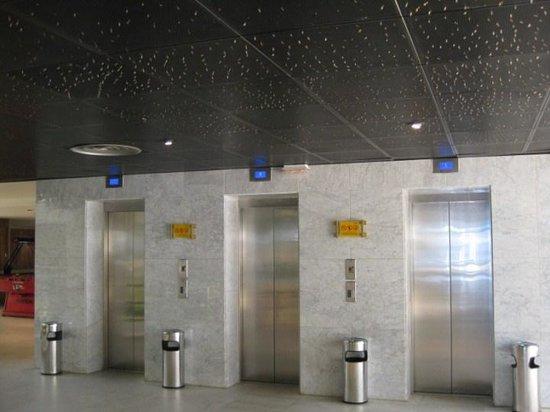 ALEGRIA Portomagno: los ascensores principales, solo tres, siempre llenos y siempre colas largas