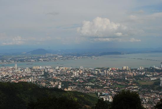 Penang Hill: view from the peak