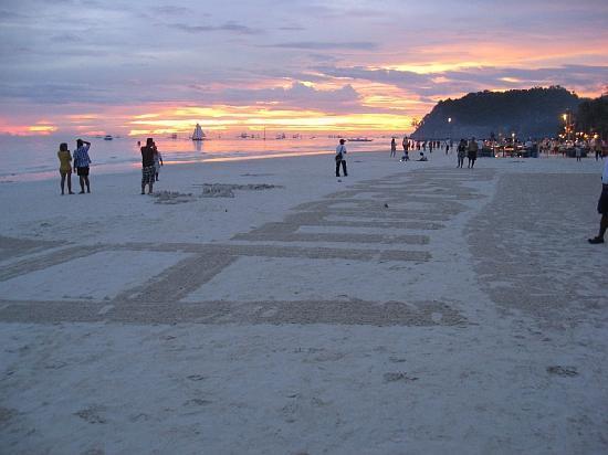 Ambassador in Paradise Resort: Sunset on the beach