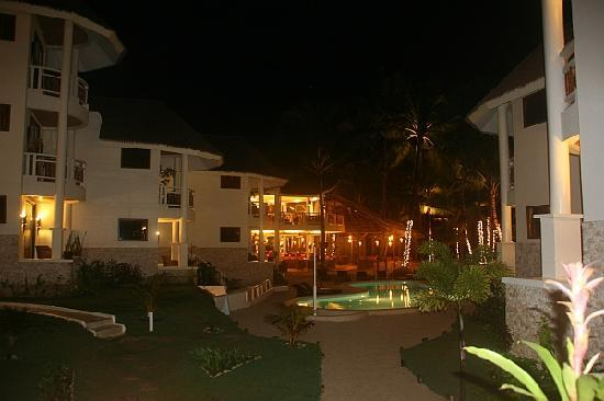 Ambassador in Paradise Resort: View from balcony by night
