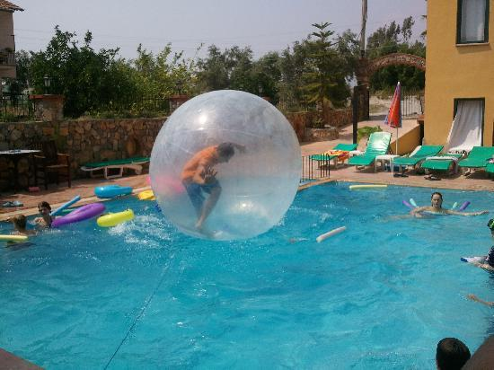 Poppy Apartments: Bubble play at pool
