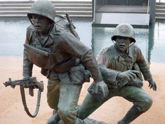 National D-Day Memorial: Detail of Landing Beach Tableau