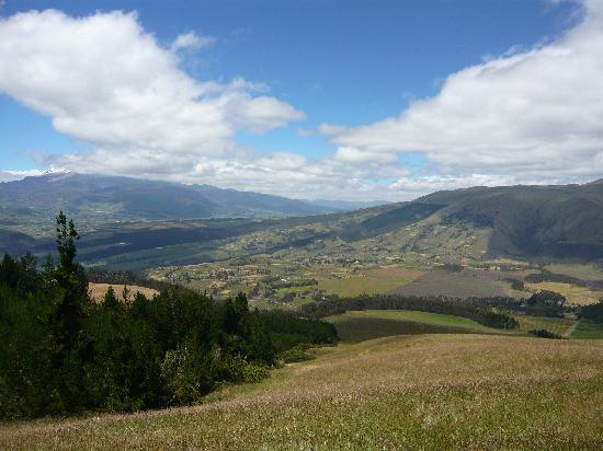 Imbabura Province, Ecuador: View from horsebackriding in the hills