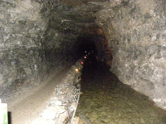 Constructed waterway in Lockport Cave