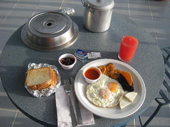 Hotel Casazul : Breakfast on the Veranda - Watermelon Juice!